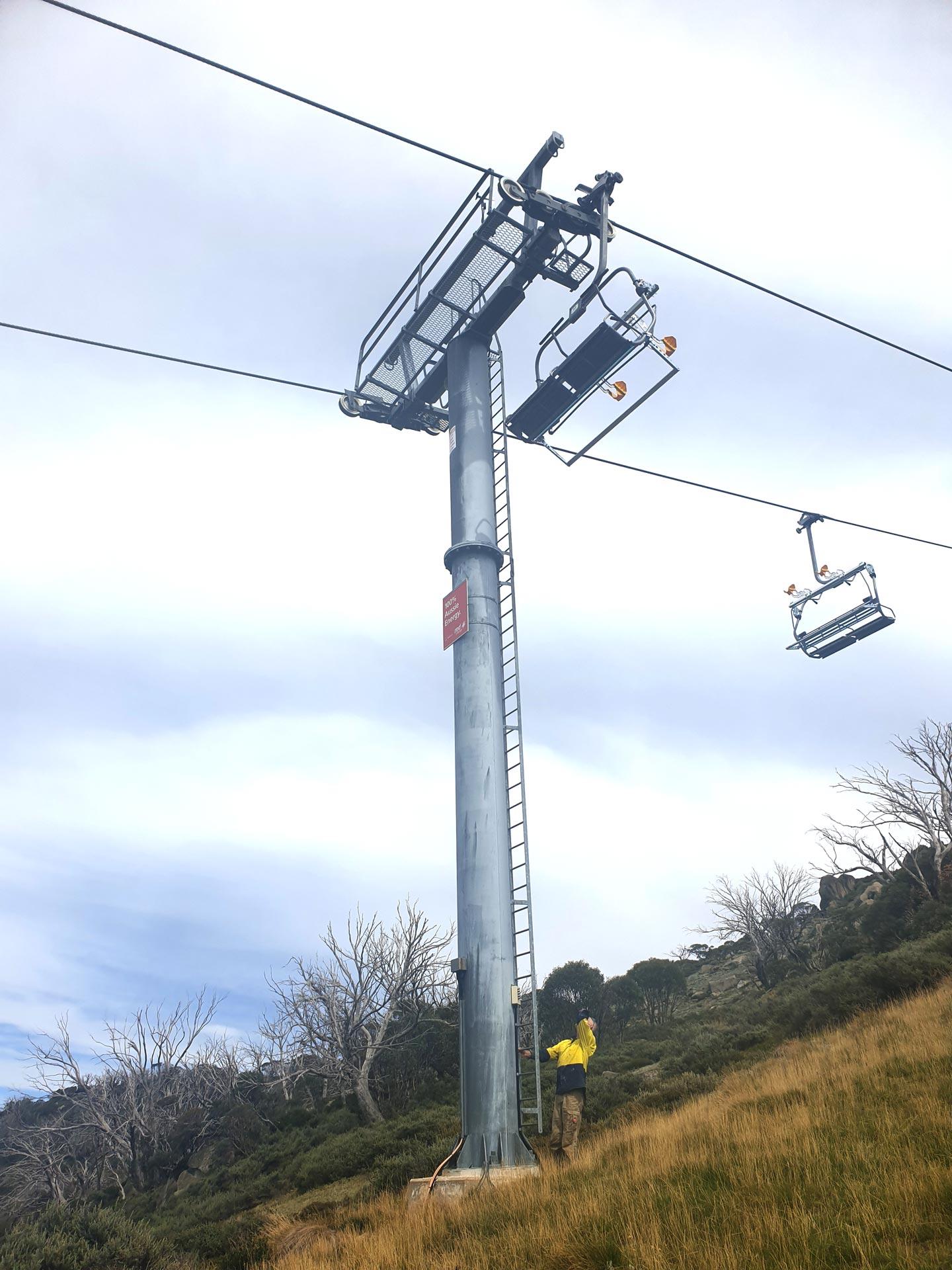 Lift Tower Maintenance Thredbo Ski Resorts